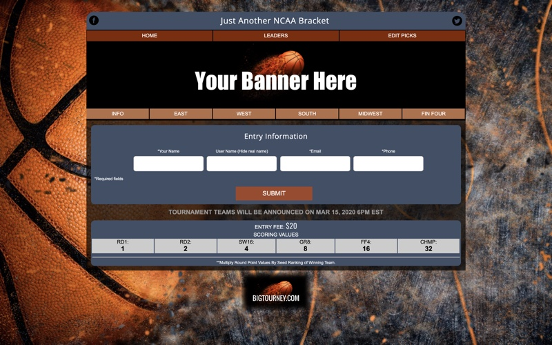march into madness bracket site